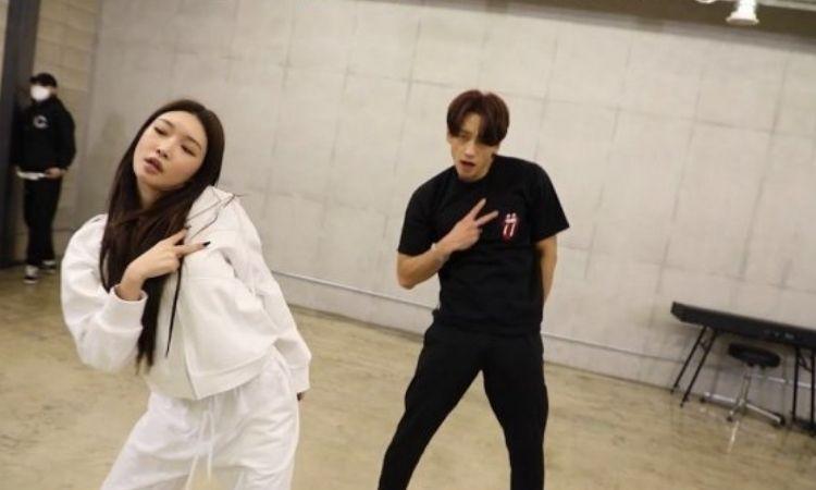 Rain y Chungha muestran el detrás de cámara de los ensayos para
