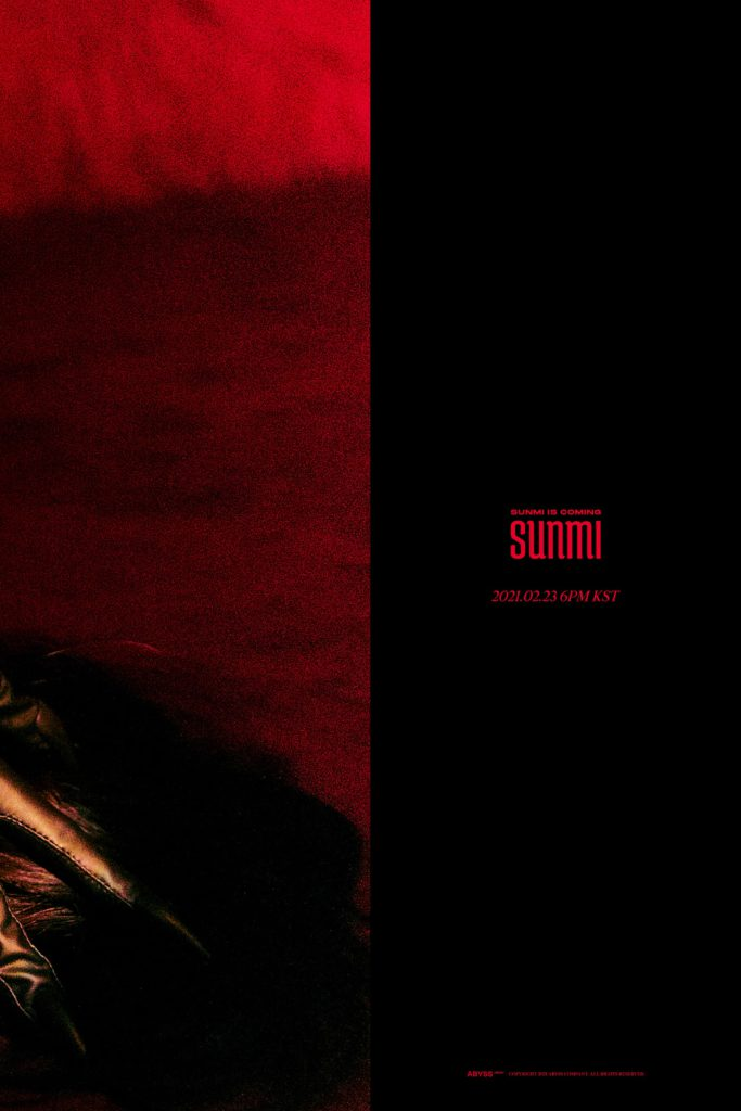 Sunmi anuncia la fecha de su regreso y revela su primera imagen teaser