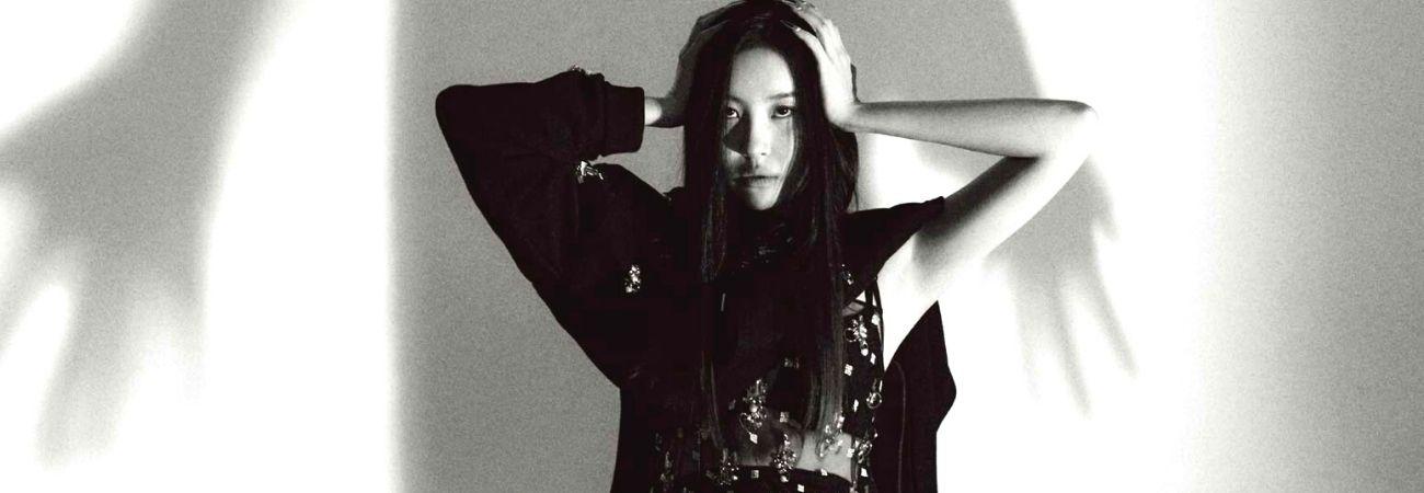 Sunmi luce elegante en negro para la revista Vogue Korea