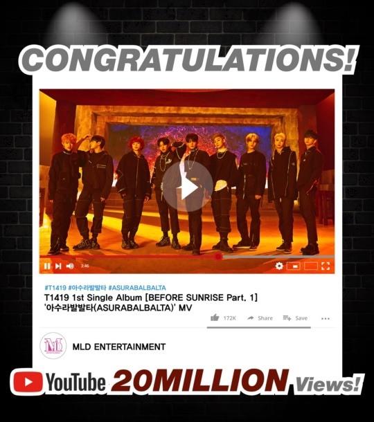 T1419 supera los 20 millones de visitas en YouTube con el MV 'Asurabalbalta'