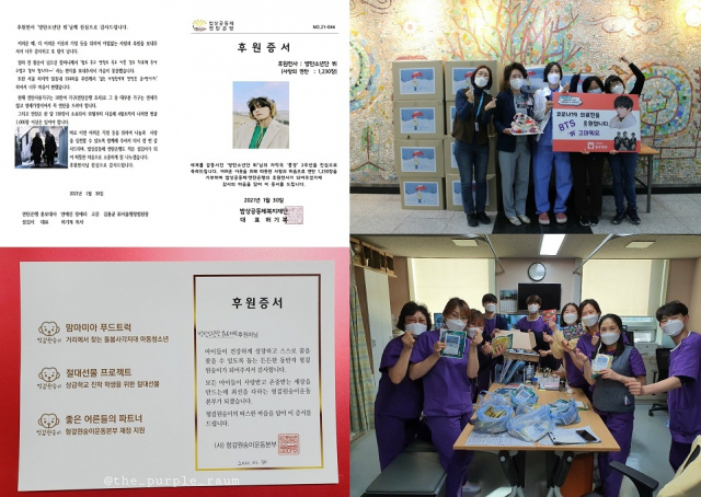 Fan Bases de V de BTS muestra su gran corazón a través de actividades benéficas