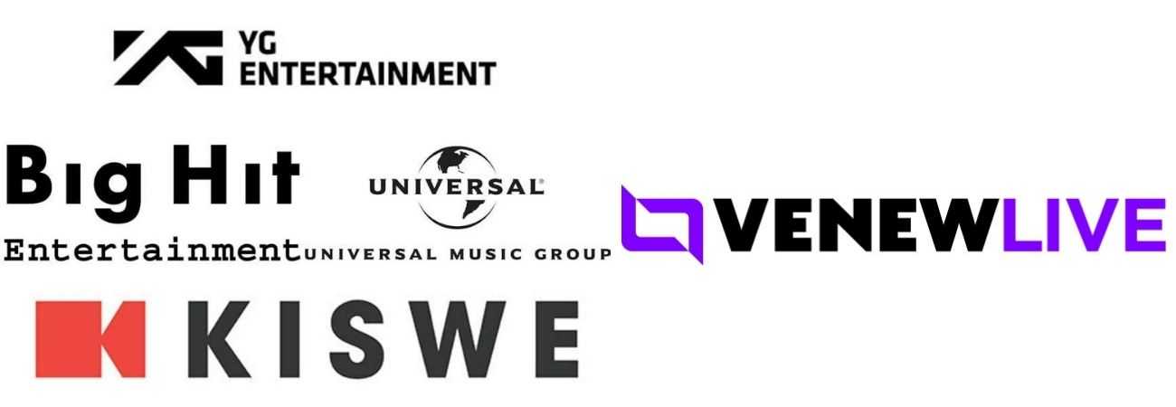 "Big Hit, YG, Universal y Kisswe se unen para lanzar la plataforma ""Venew Live"""