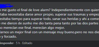 El final de Love Alarm 2 tiene al público inconforme