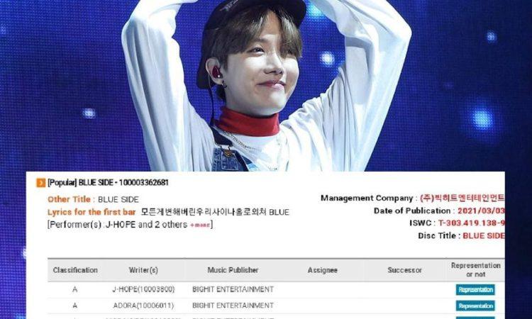 J-Hope de BTS se le acredita como el productor principal de Blue Side