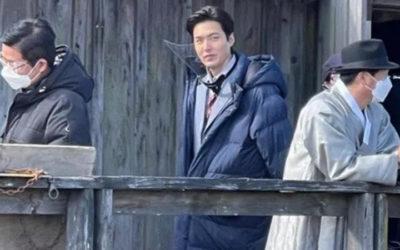 Fans graban a Lee Min Ho en las grabaciones de 'Pachinko' en Canadá