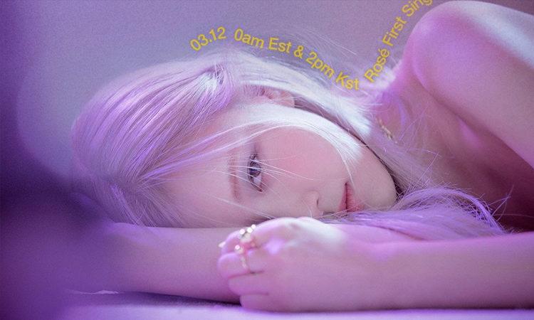 Rosé de BLACKPINK presenta su nuevo poster debut titulado -R-