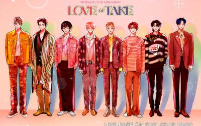 PENTAGON se convierten en personajes de webtoon para Love or Take