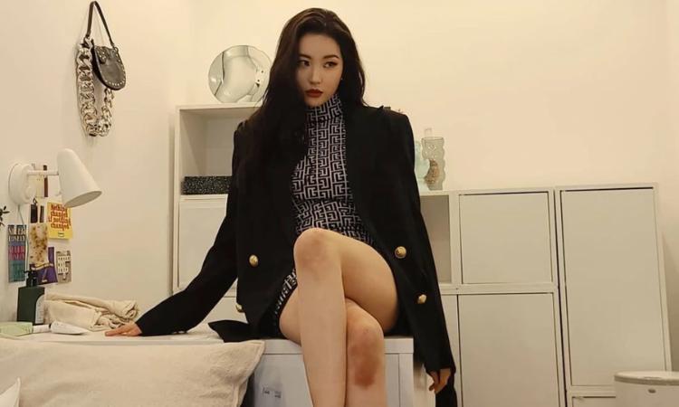 Fans muestran su preocupación al ver las rodillas golpeadas de Sunmi
