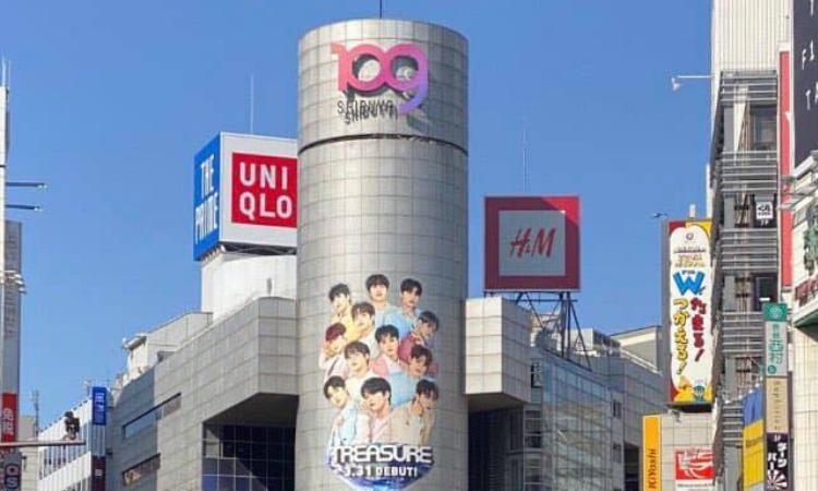 TREASURE obtiene un gran anuncio en el edificio Shibuya 109 antes de su debut en Japón