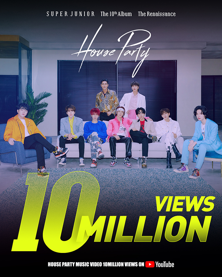 Super Junior 10 millones de vistas de House Party
