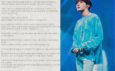 J-Hope de BTS revela la emotiva canción Blue Side para celebrar los 3 años con Hope World