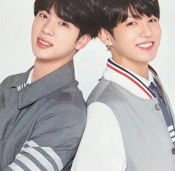 Jin y Jungkook de BTS