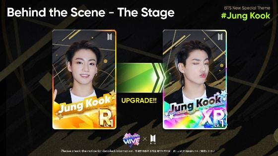 Tarjetas de Jungkook en el juego móvil