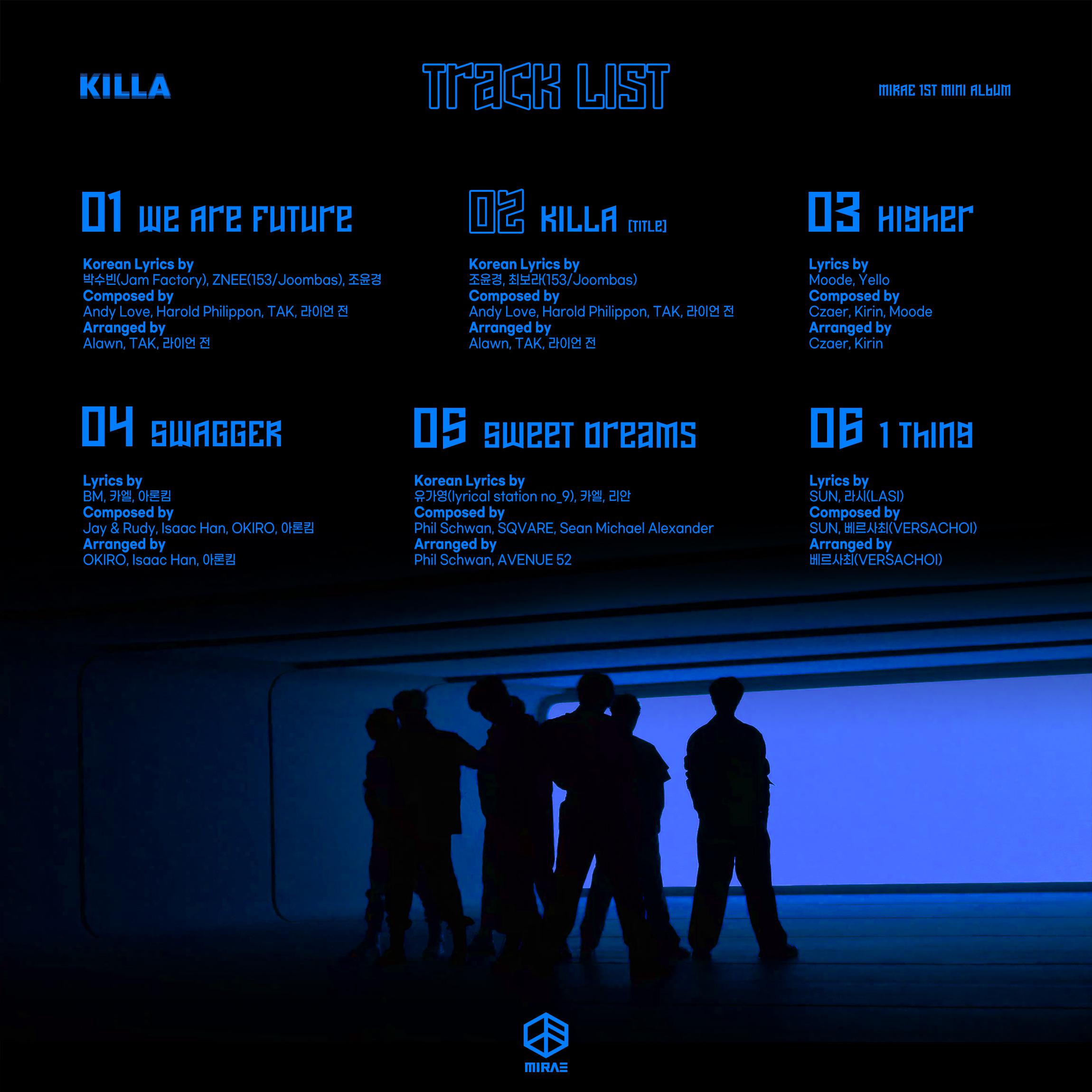 MIRAE comparte la lista de canciones para su álbum debut 'KILLA'