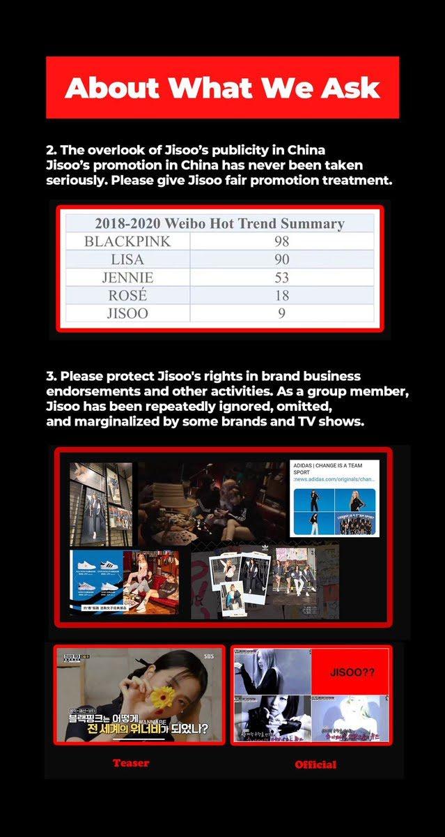 Fans de Jisoo de BLACKPINK envían camiones de protesta por un trato justo