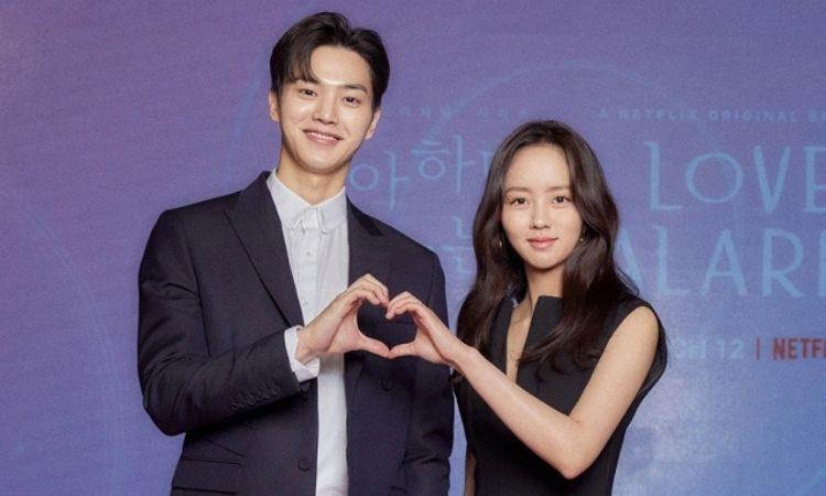 Song Kang y Kim So Hyun en conferencia de prensa para Love Alarm 2