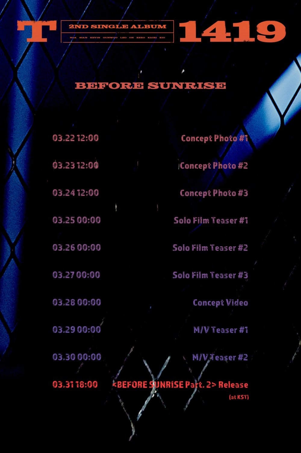 Anota estas fechas para el comeback de T1419 con Before Sunrise Part. 2