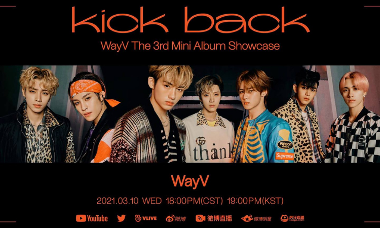 WayV realizará un showcase en línea antes del lanzamiento de su nuevo álbum 'Kick Back'