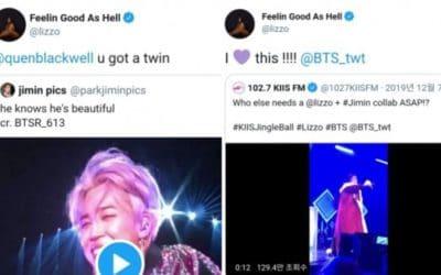 Cantante estadounidense Lizzo menciona a Jimin de BTS