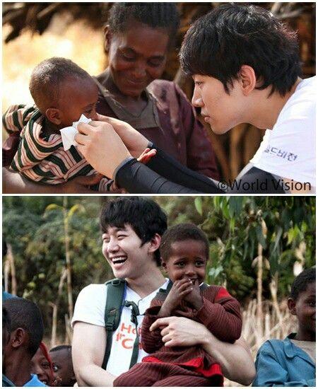 Junho de 2PM en Etiopía como voluntario de World Vision