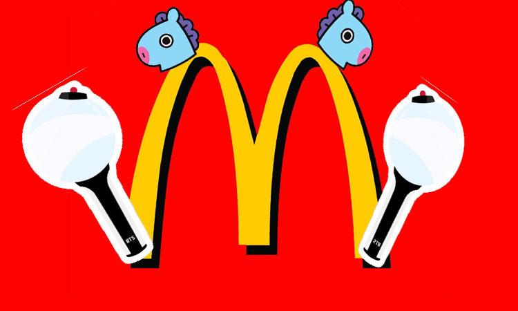 McDonald's saca su lado ARMY porque esta emocionado que BTS lo sigue en Twitter