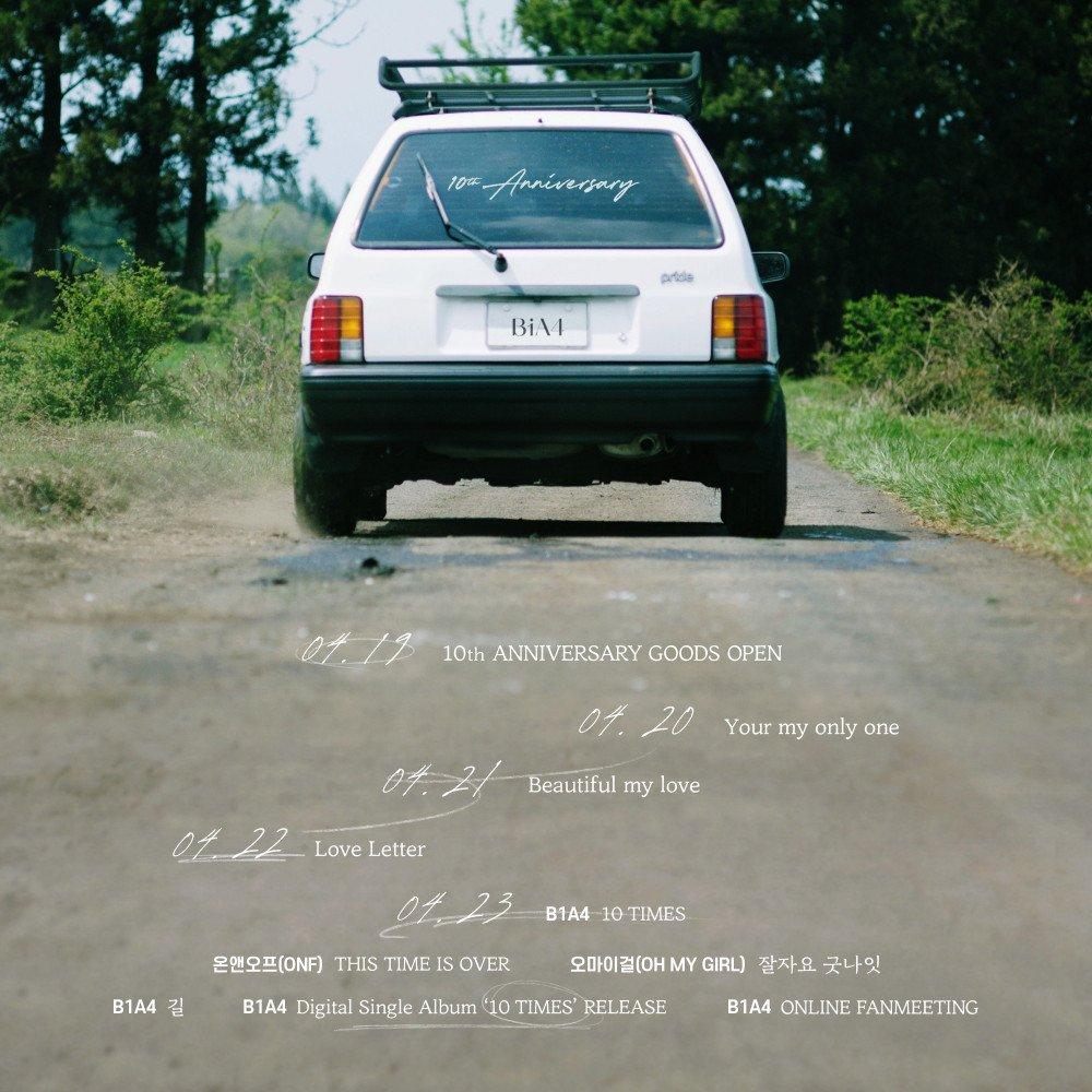 B1A4 comparte imagen teaser para su sencillo de aniversario '10 Times'