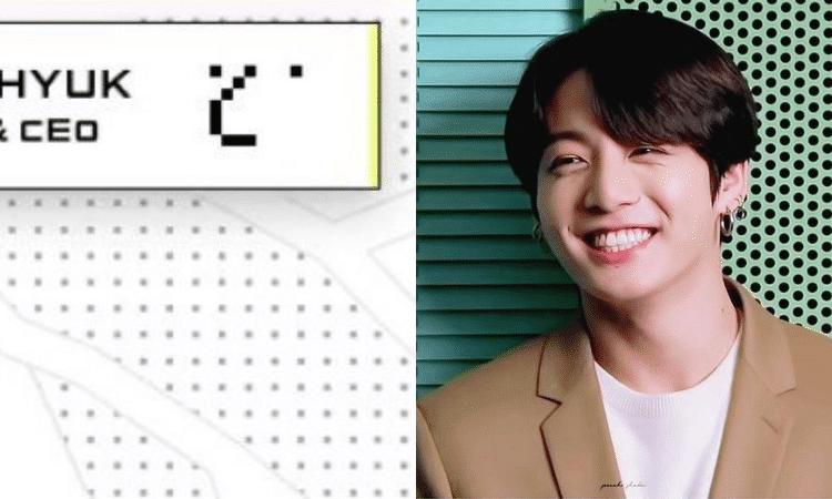 Jungkook de BTS, la mente maestra detrás del logotipo de Bang Si Hyuk