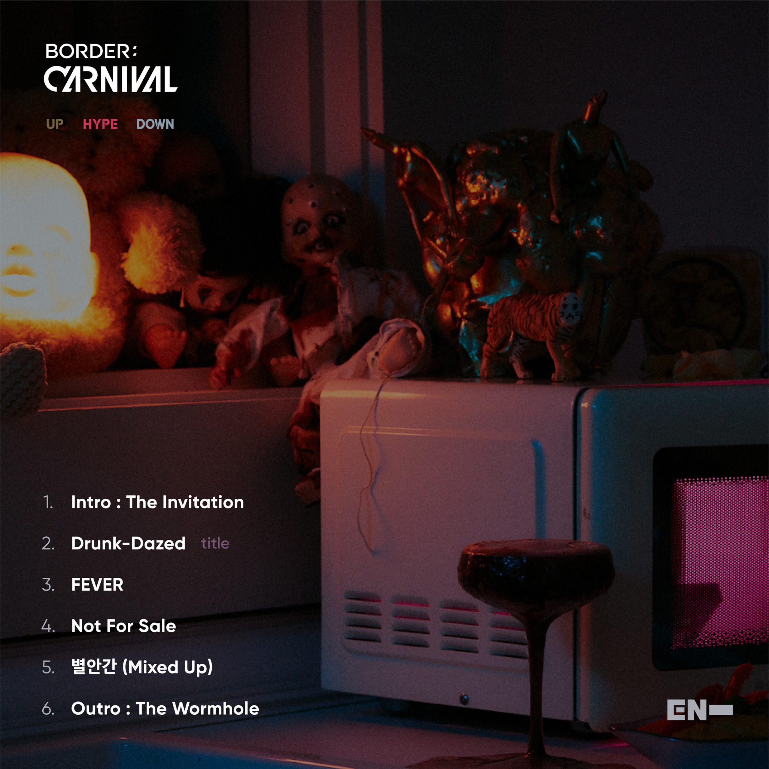 ENHYPEN comparte lista de canciones para su álbum 'BORDER: CARNIVAL'