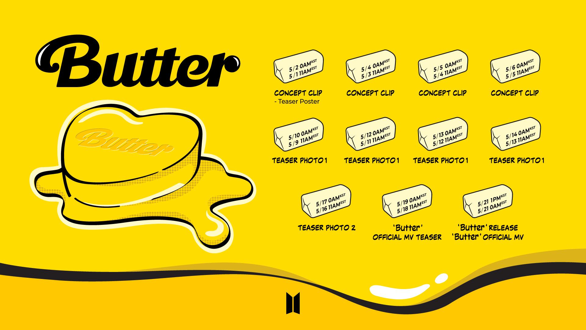 BTS comparte su calendario de regreso para 'Butter', ¡ARMY, anota estas fechas!