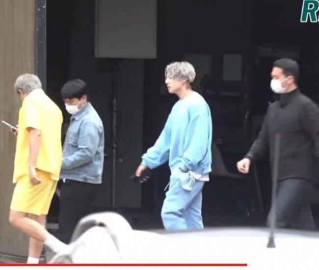 Se reporta que BTS fue visto filmando algo para un próximo proyecto