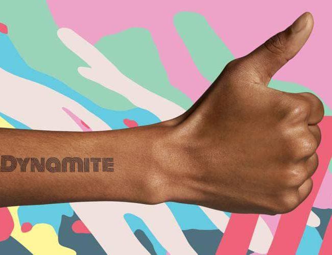BTS lanzara tatuajes temporales basados en Dynamite