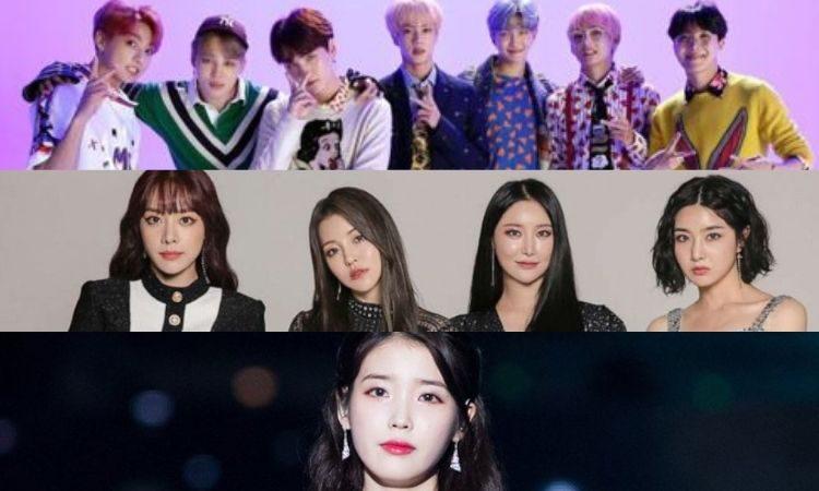 BTS, Brave Girls y IU