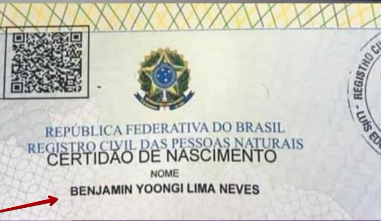 ARMY de Brasil muestra su amor por BTS que le pone el nombre de uno de los integrantes a su hijo