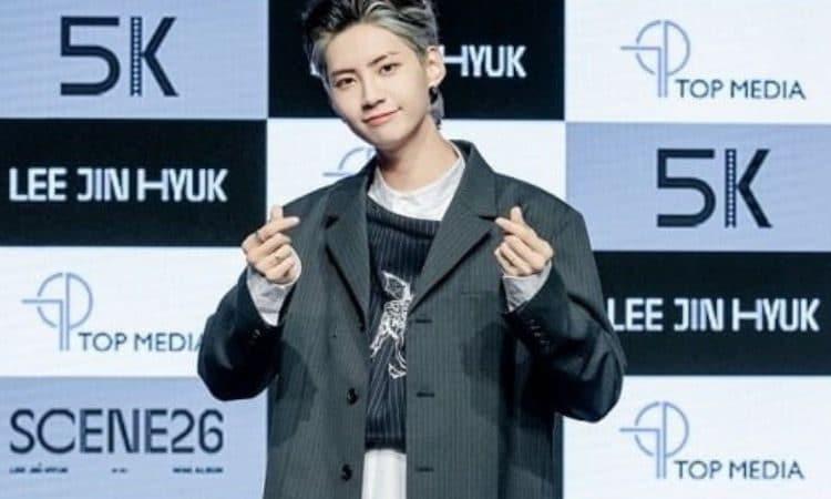 Lee Jin Hyuk presentando su álbum Scene26