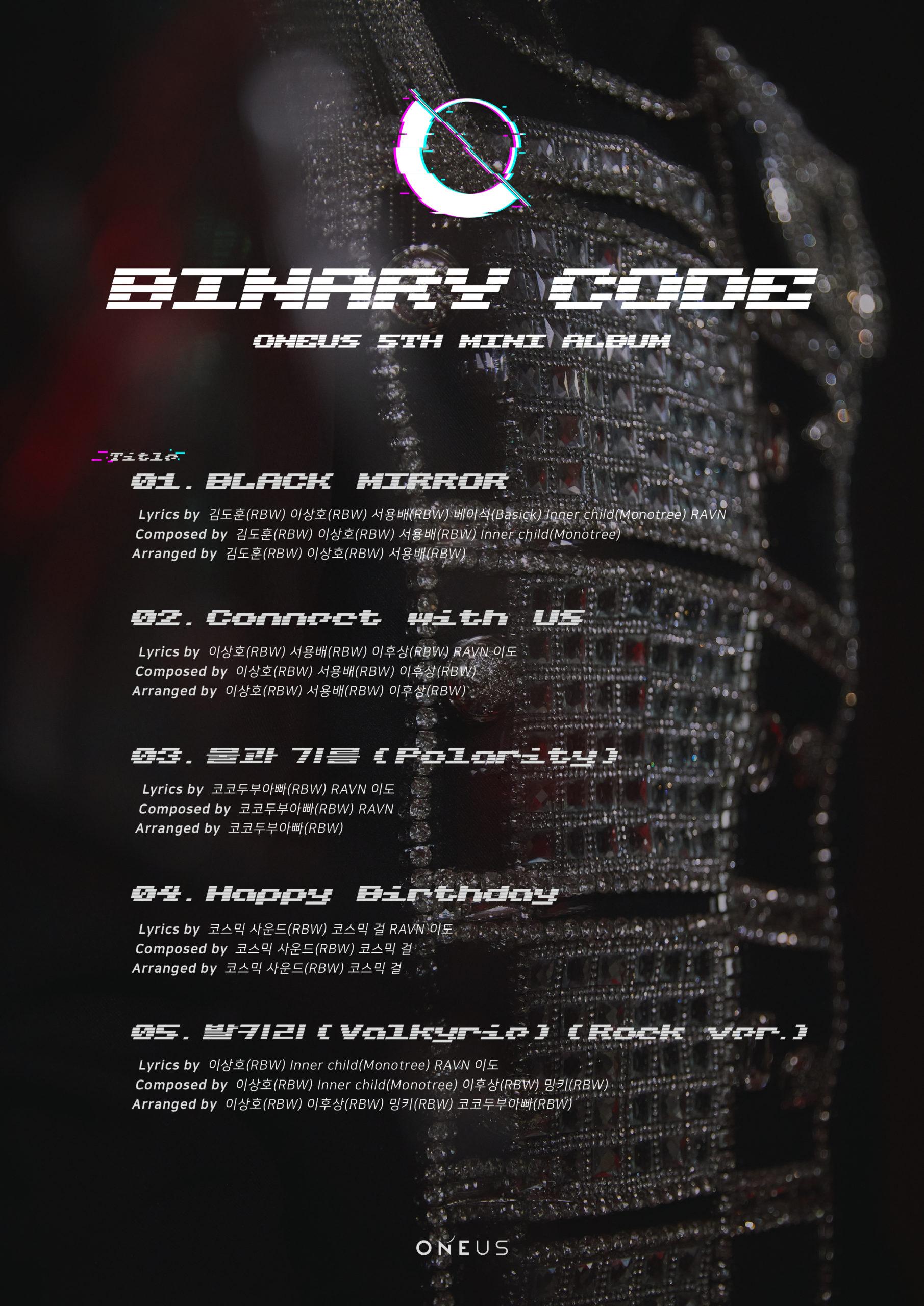 ONEUS comparte lista de canciones para su álbum 'Binary Code'