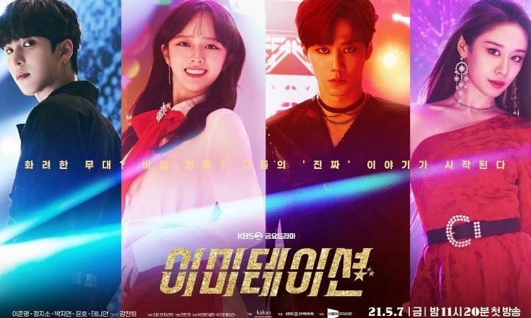 Yunho de Ateez, Jeong Ji Soo, Lee Jun Young y Park Si Yeon