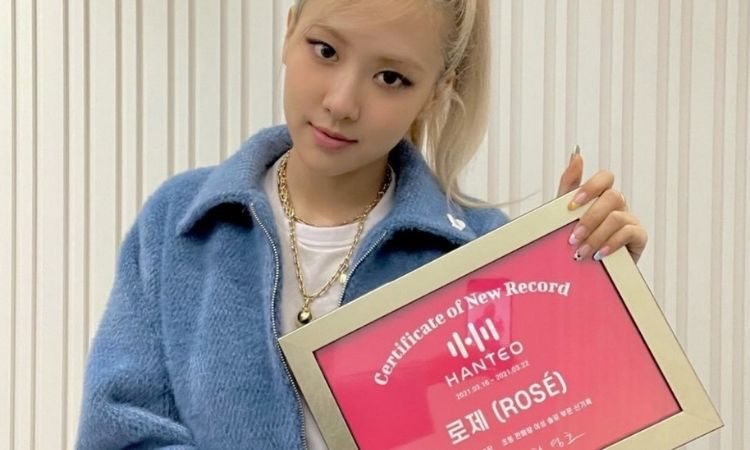 Rosé de Blackpink recibe certificado de Hanteo