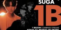 Suga de BTS alcanza 1 Billón de reproducciones en Spotify