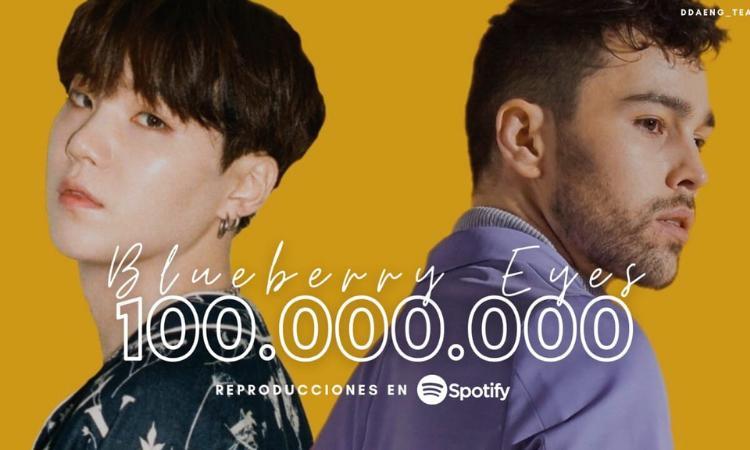 'Blueberry Eyes' de MAX Suga de BTS alcanza 100 millones de reproducciones en Spotify