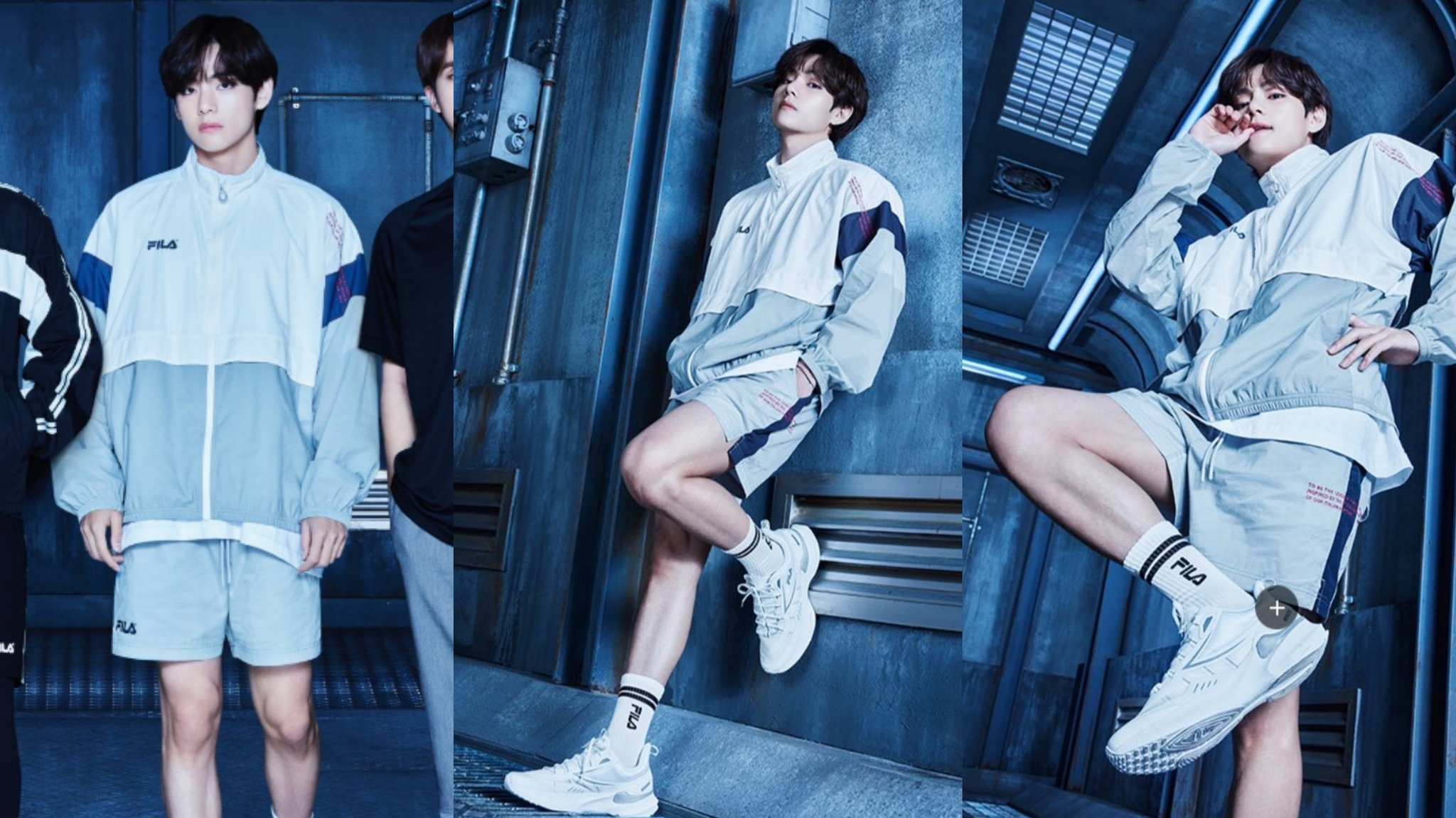 V de BTS roba el aliento de ARMY por su cuerpo atlético en fotos para FILA Korea