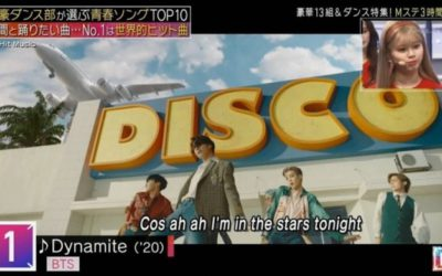 Dynamite de BTS ocupa el primer lugar del Top10