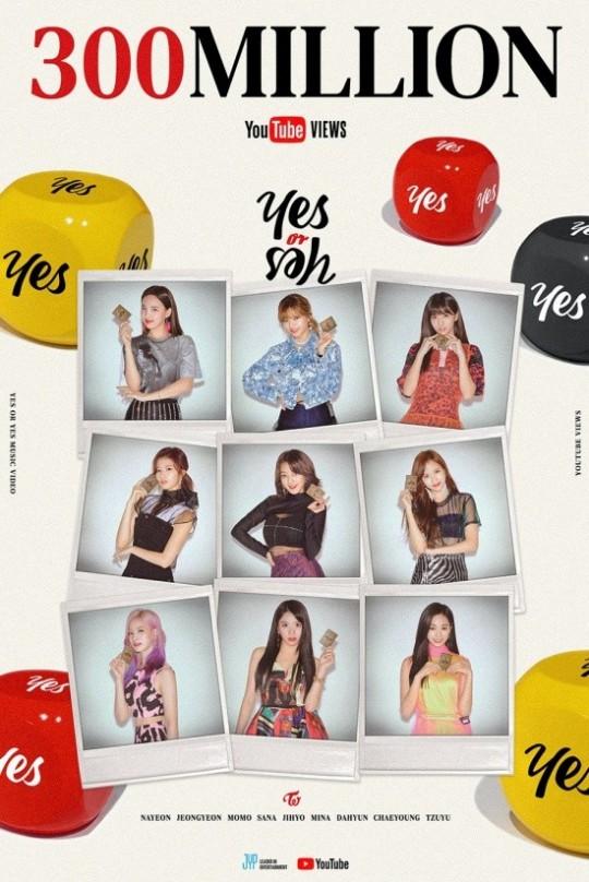 JYP felicita a Twice por vistas en MV Yes or Yes
