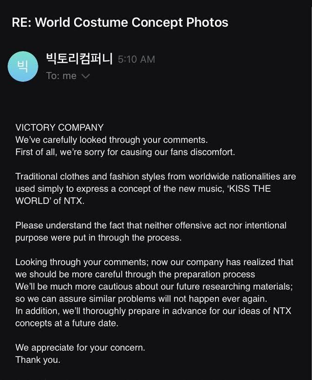Victory Company se disculpa por la apropiación cultural del nuevo grupo de chicos NTX