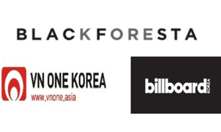 Logos de Black Foresta, Billboard Korea y V&1