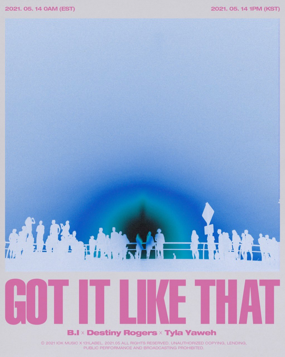 B.I presenta póster para su nuevo sencillo global 'Got It Like That'