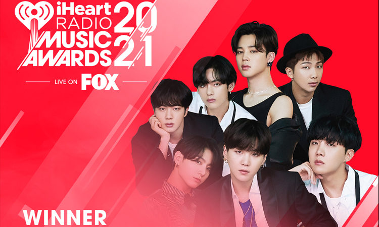 BTS logra obtener los 3 premios en los iHeartRadio Awards 2021