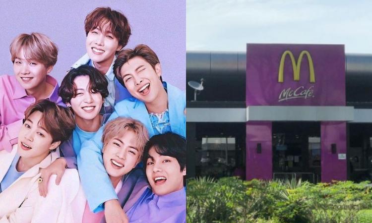 Las tiendas de McDonald's se tiñen de púrpura antes del lanzamiento su colaboración con BTS