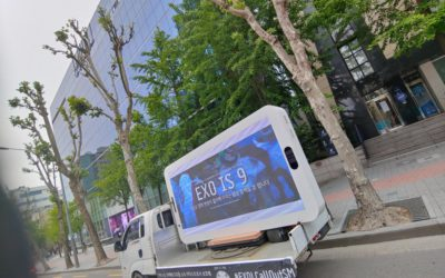 Camión de protesta enviado por EXO-Ls