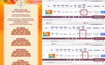Fan site china de V de BTS
