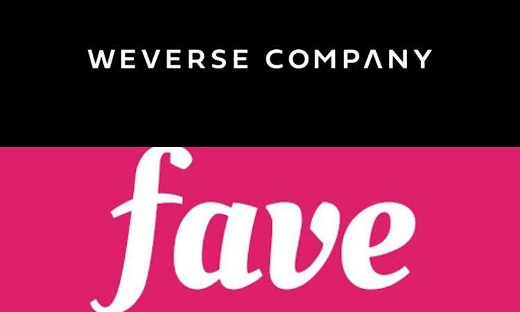 Logos de Weverse Company y Fave